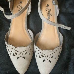 Shoes - Gray Flats